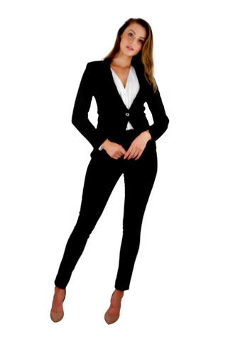 Black Square Pant Suit