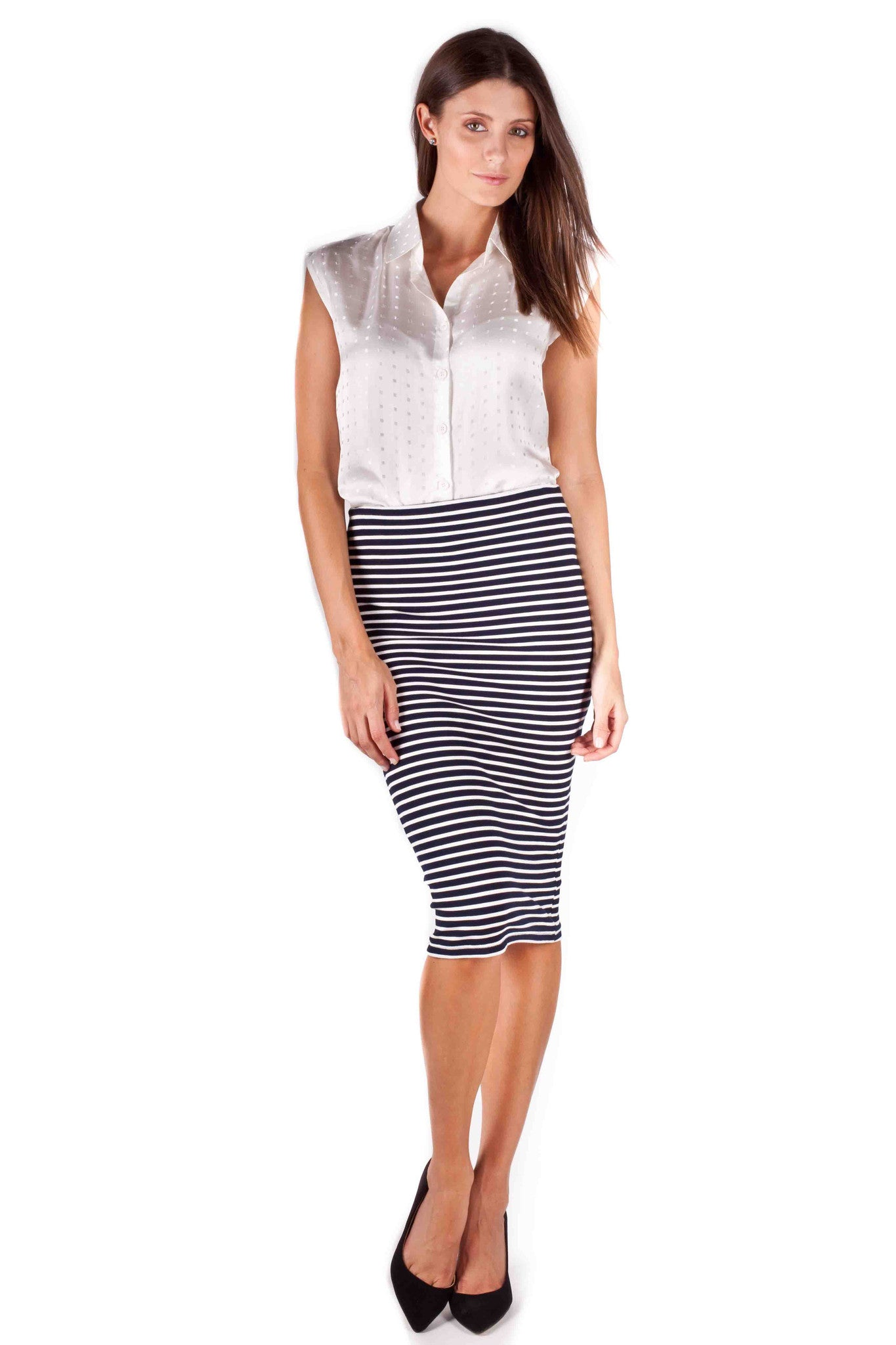 Between The Lines Pencil Skirt
