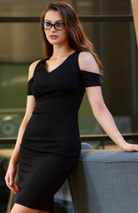 Black Square Dress