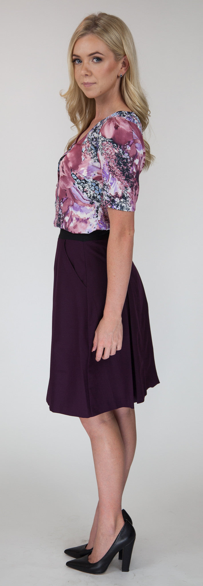Luciana Pleat Skirt