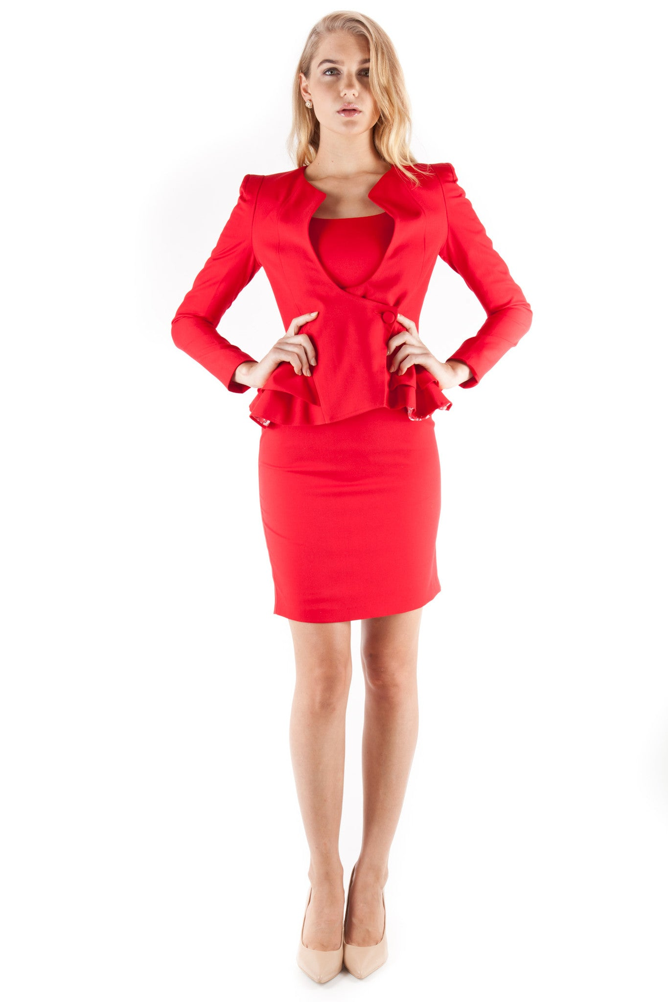 Queen of Hearts Peplum Jacket