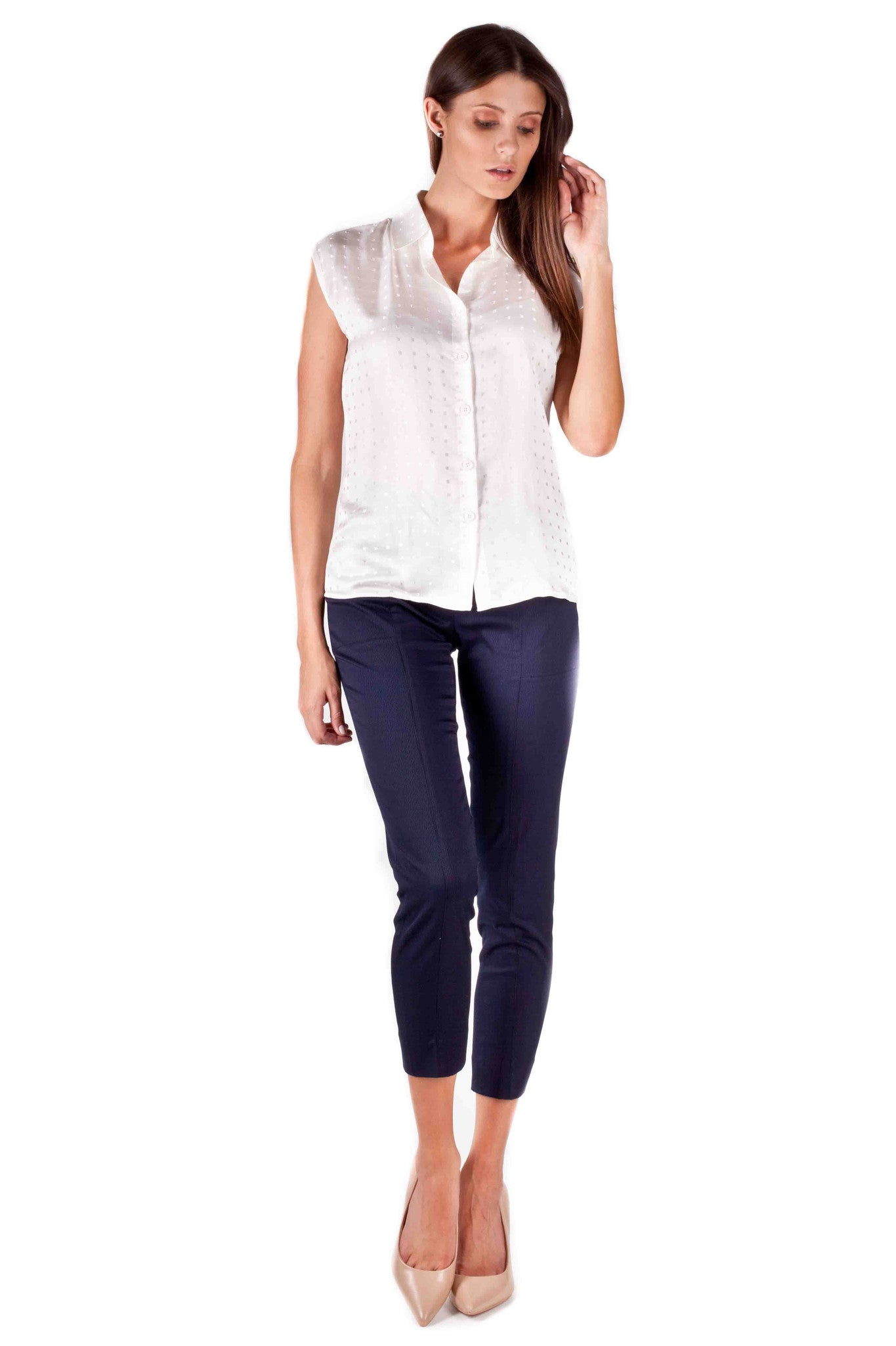 The Rebels Silk Blouse (WHITE)