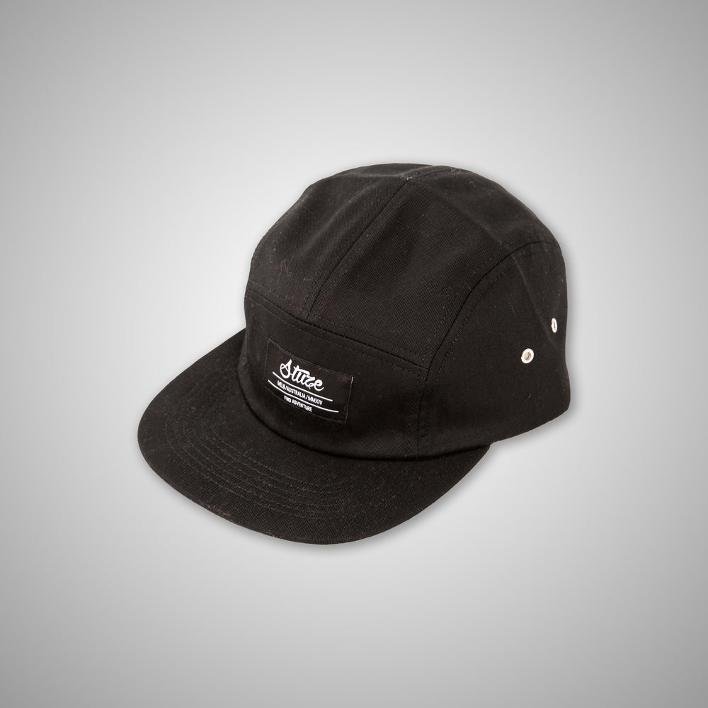 Five Panel Cap (Black) - Stuze