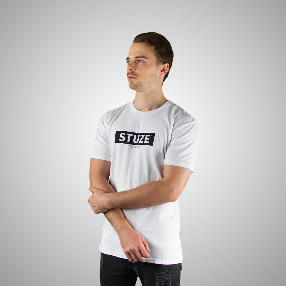 Block Tee (White) - Stuze