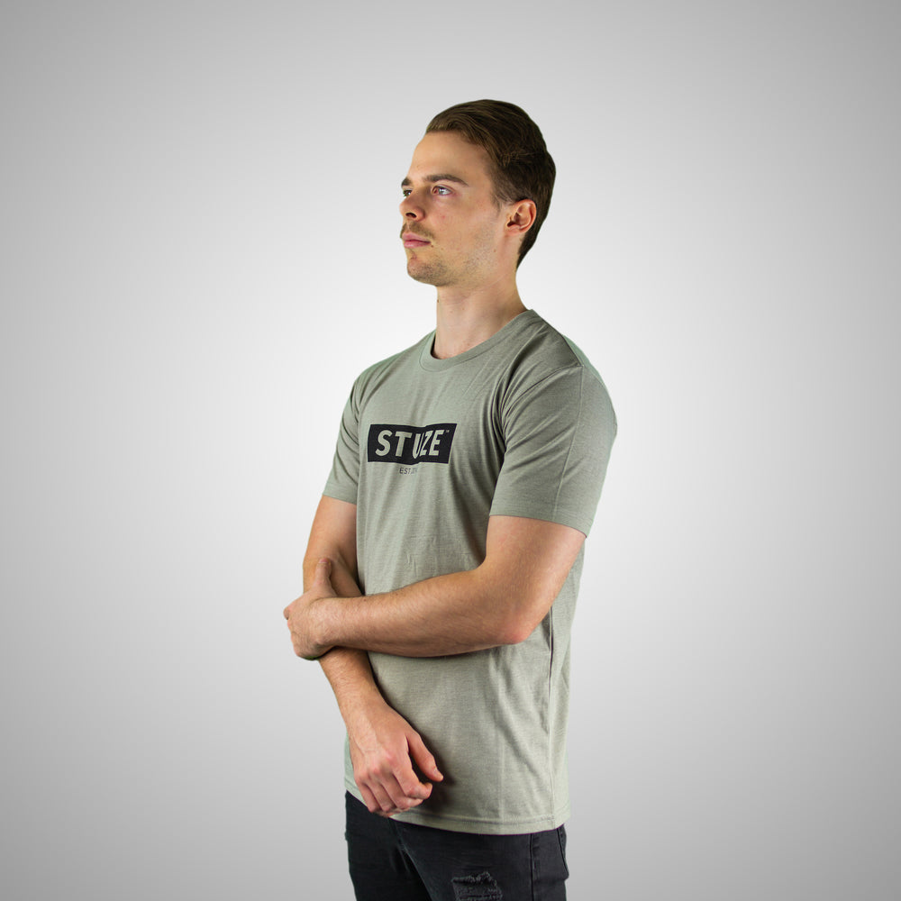 Block Tee (Light Grey) - Stuze