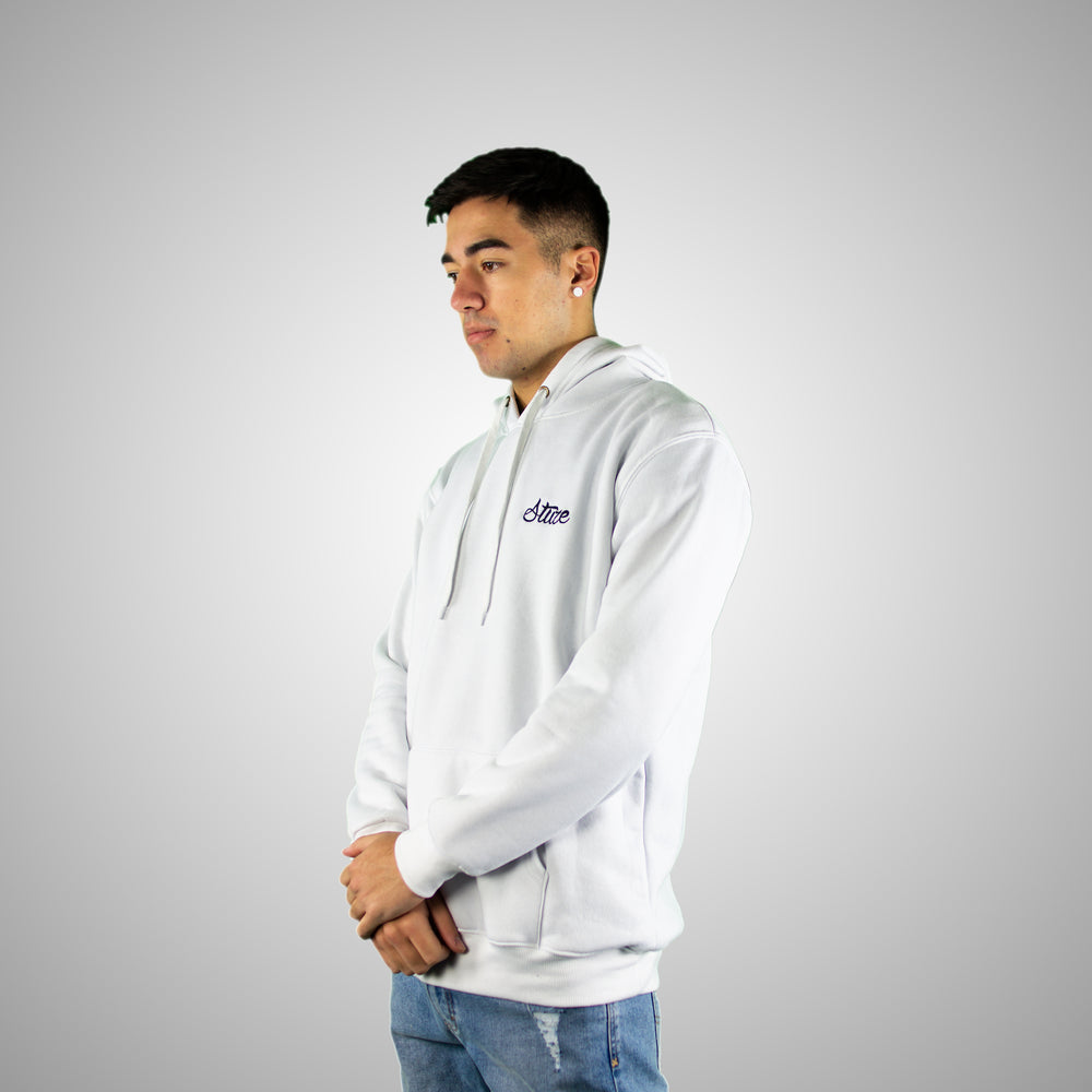 Men's Lifestyle Hoodies (White) - Stuze