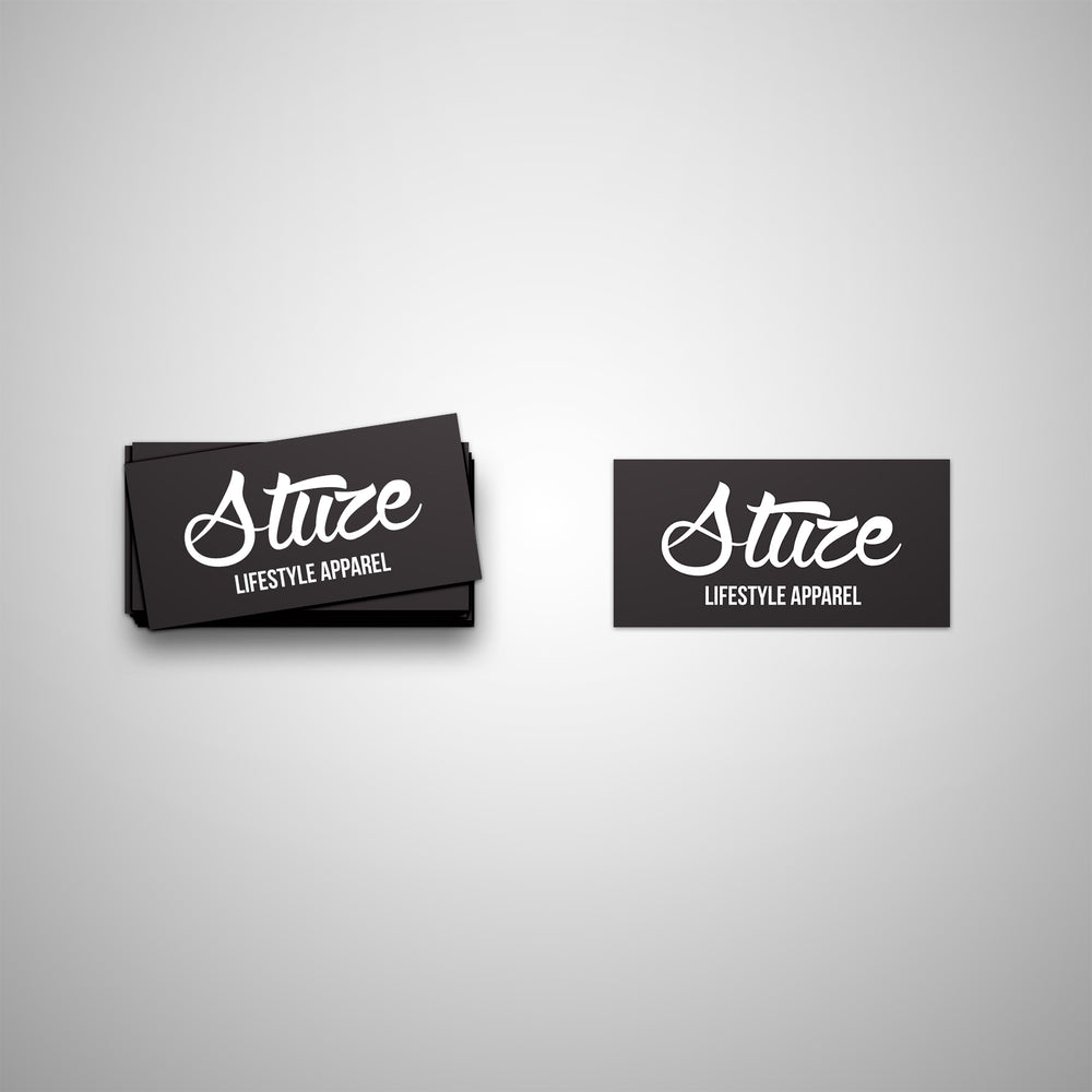 Vinyl Lifestyle Stickers (Black) - Stuze