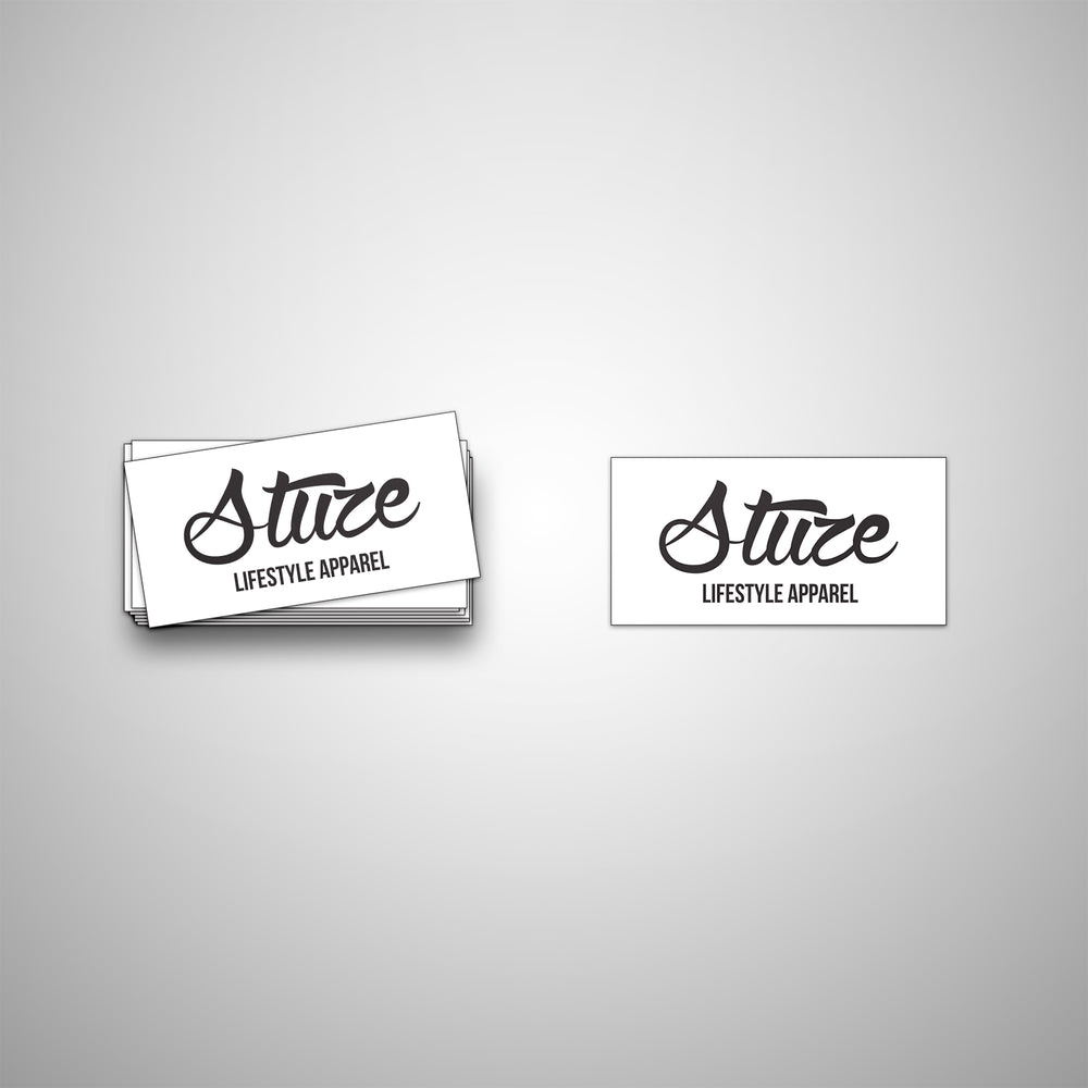 Vinyl Lifestyle Stickers (White) - Stuze