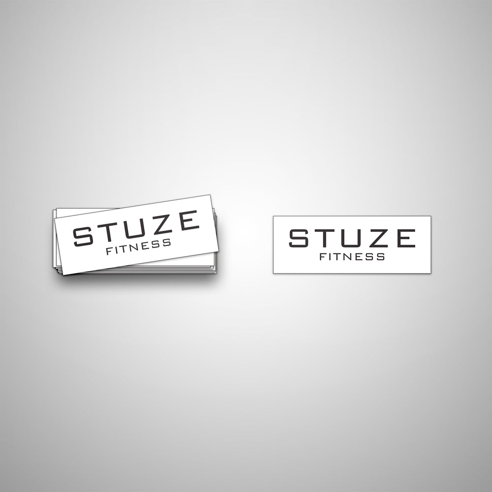 Vinyl Fitness Stickers (White) - Stuze