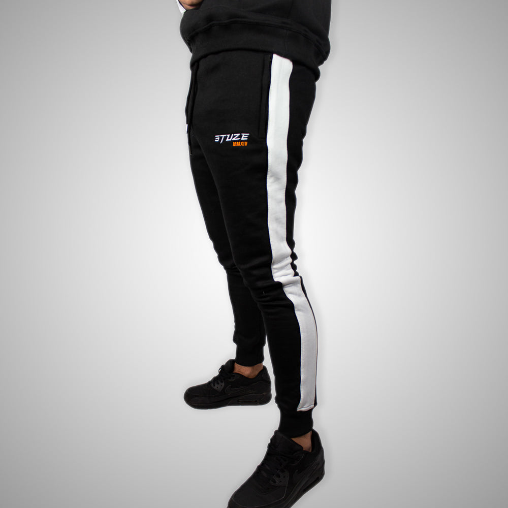 Stuze Unisex Striped Trackpants - (Black) - Stuze