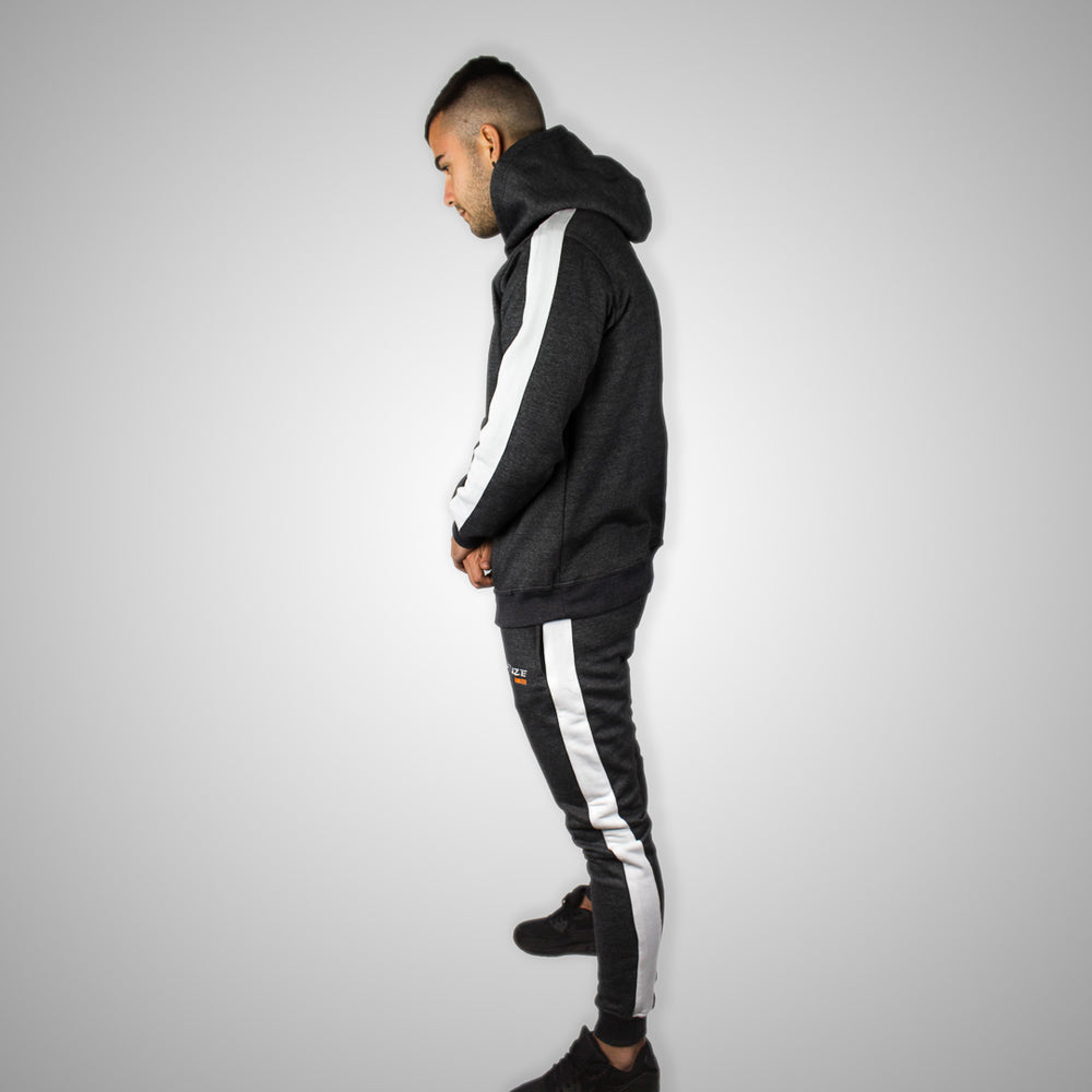 Stuze Unisex Striped Hoodie - (Charcoal Grey) - Stuze