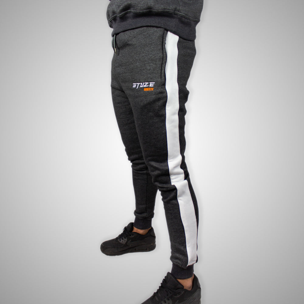 Stuze Unisex Striped Trackpants - (Charcoal Grey) - Stuze