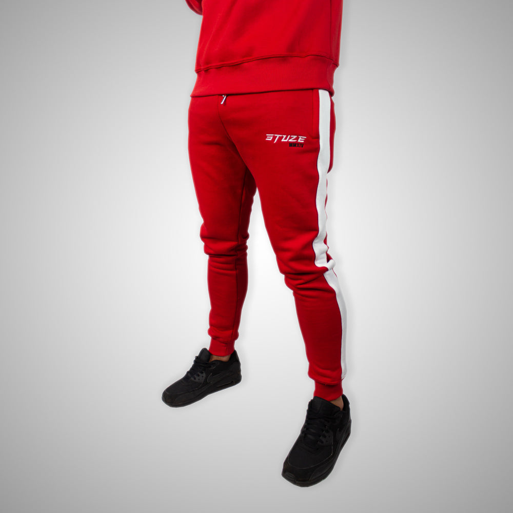 Stuze Unisex Striped Trackpants - (Red) - Stuze