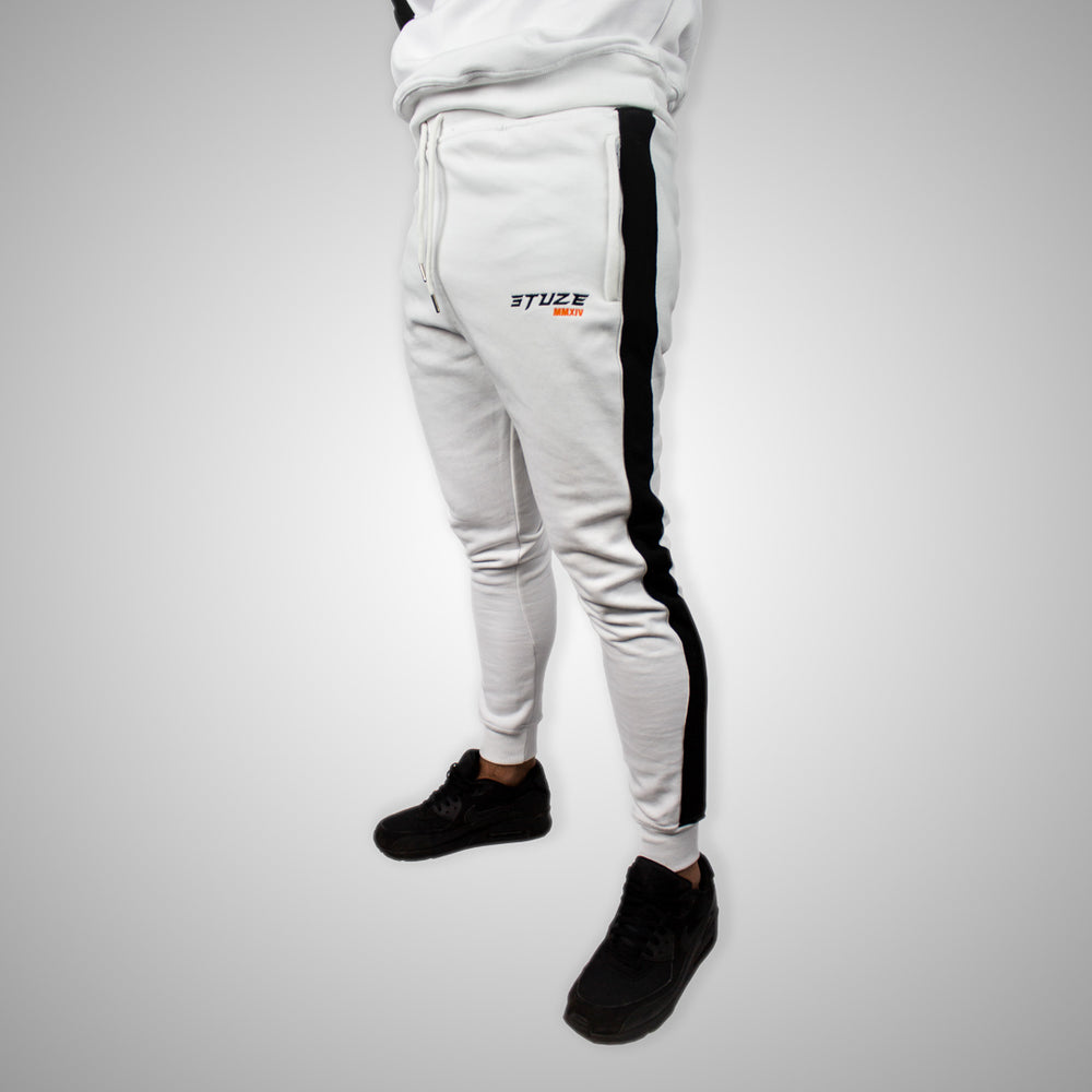 Stuze Unisex Striped Trackpants - (White) - Stuze