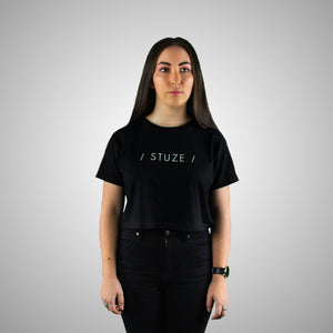 Crop Tee (Black) - Stuze