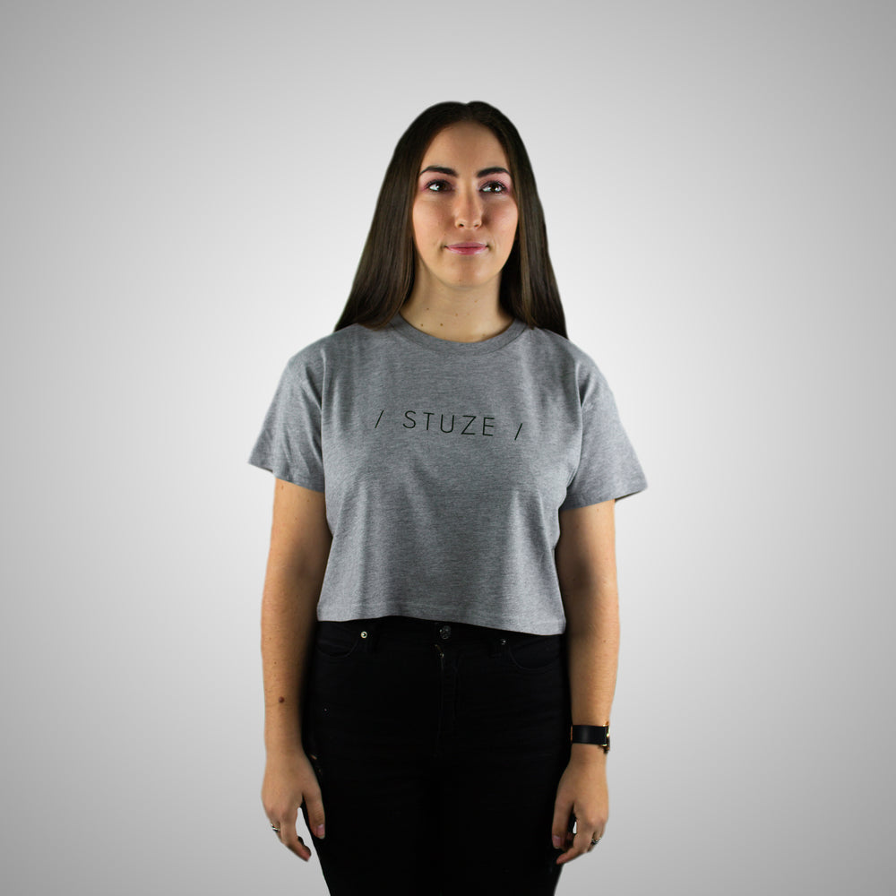 Crop Tee (Grey Marle) - Stuze