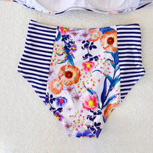 Retro Floral High Waist Bikini