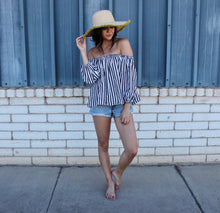 Striped Off Shoulder Summer Top