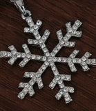 Lance Christmas Zircon Rhinestone Snowflake Pendant Chains Xmas Double Layer Necklace