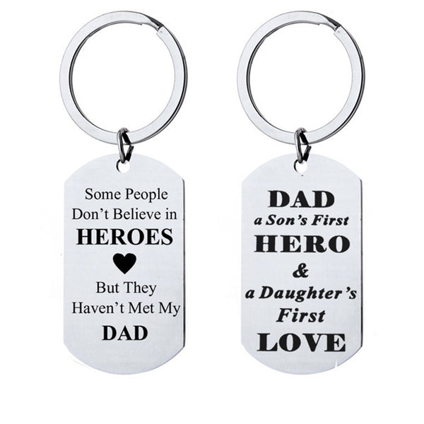 Lance KeyChain Father Gift Men Jewelry From Daughter Son Dad A Son First Hero A Daughter First Love