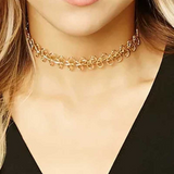 Lance Fashion Choker Punk Style Metal Collar Necklace