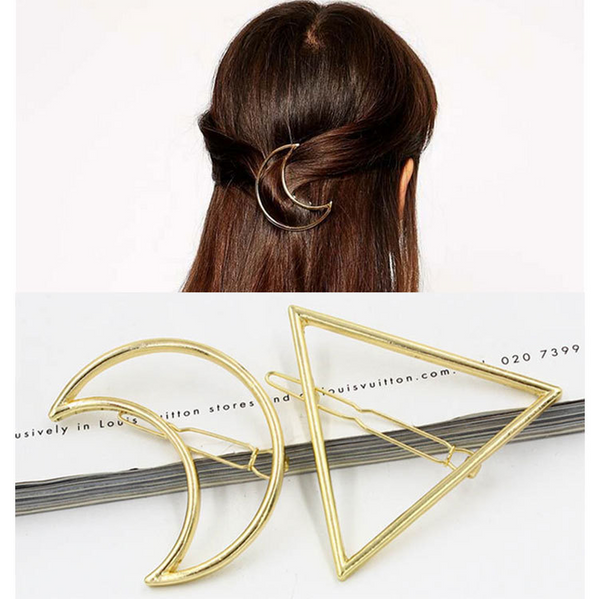 Lance Triangle Moon Hairpin Geometric Modeling Hair Accessories