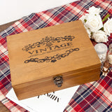 Lance Solid Wood Lock Wooden Tabletop Storage Jewelry Box