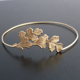 Lance Simple and Fresh Leaf shaped Metallic Alloy Bracelet Wholesale