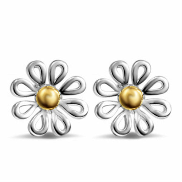 Lance Europe New Hot Sale Small Daisy Stud Earrings Chrysanthemum Stud Earrings