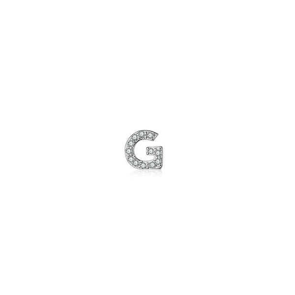 Lance Alphabet Letters with Simulated Diamond Stud Earrings