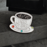 Lance Fashion Cute Alloy Coffee Cup Oil Drop Brooch