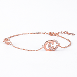 Lance double C S925 silver plated 18K rose gold bracelet