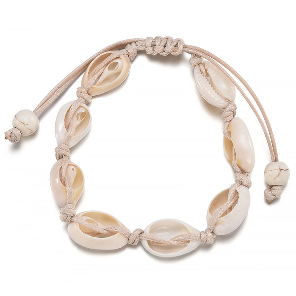 Lance Natural Cowrie Beads Hawaii Style Leisure Jewelry Manual Tejer pulsera