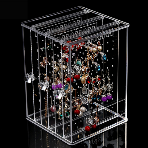 Lance Acrylic Transparent Necklace Earrings Storage Jewelry Box