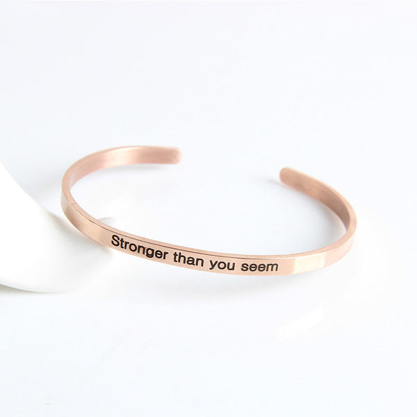 Lance Simple Wisdom Saying patterned Bracelet Wholesale Fashion Jewelry