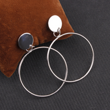 Lance Europe and America Simple Circle Earrings Jewelry