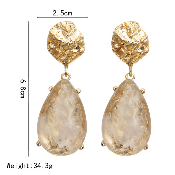 Lance Fashion Exaggerated Personality Transparent Dripping Earrings Jewelry