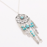 Lance Tassel Feather Turquoise Fashion Ornament Bohemian Necklace Jewelry