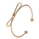 Lance Copper Big Bow Bracelet Bangle