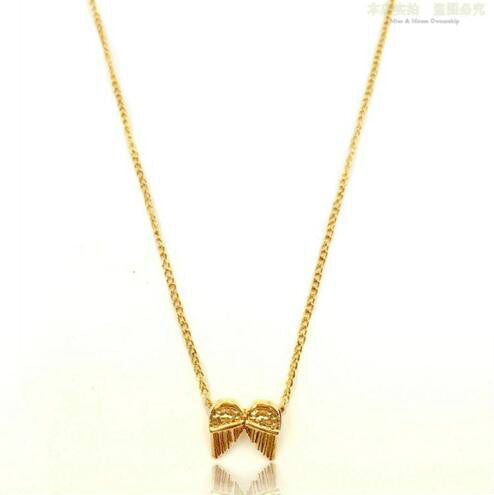 Lance angel wing alloy clavicle pendant necklace