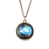 Lance Double-sided Glass Ball Night Light Couple Universe Dream Star Necklace