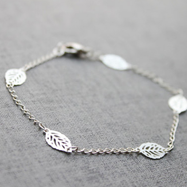 Lance Simple Leaf shaped Bracelet Wholesale Fashion Jewelry