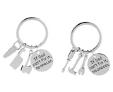 "Lance ""If Dad Can't Fix It No One Can"" Keychain Pendant Gift Tool Fathers Day"