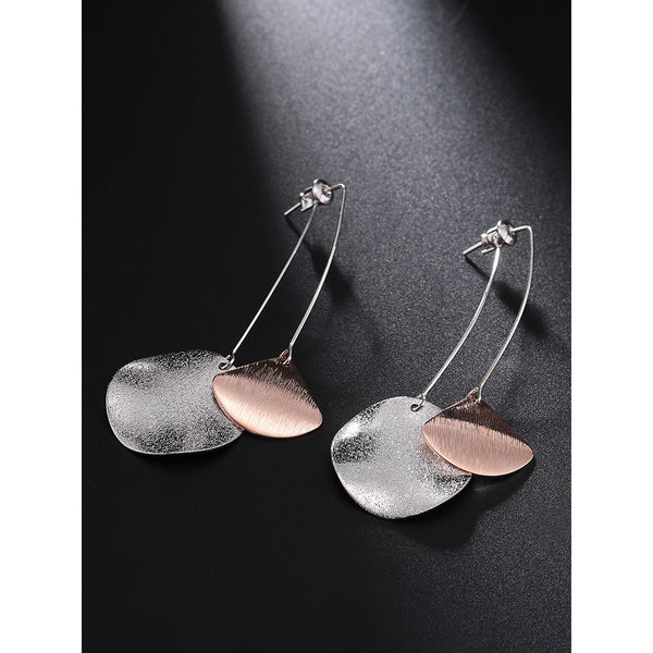 Lance minimalist style wild casual earrings Europe and exaggerated mat