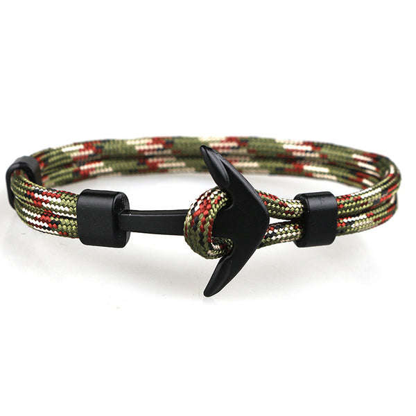 Lance New trend ship anchor men's bracelet polyester rope jewelry wholesale foreign trade jewelry