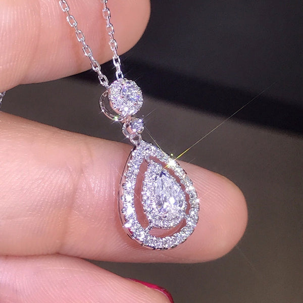 Lance Ready Stock Fashion New Jewelry Pop Diamond Water Crystal Pendant