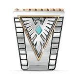 Lance Wholesale Vintage Handmade 925 Silver Turquoise Ring Women Men Jewelry Size 6-12