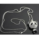 Lance Korean Flash Fashion Drill Panda Géant Chandail Chaîne Collier