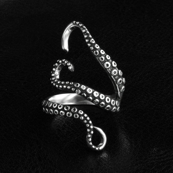 Lance Titanium Rings Men's Retro Octopus Claw Ring Ornaments Ring