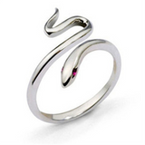 Lance Cute Little Silver Snake Ring Opening Ring Jewelry